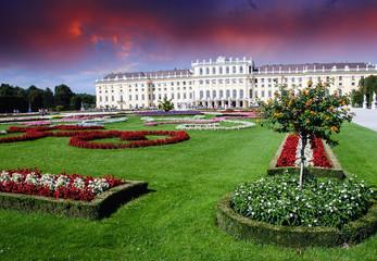 Gardens and Flowers In Schoenbrunn Castle, Vienna