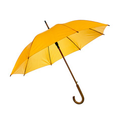 Opened yellow umbrella