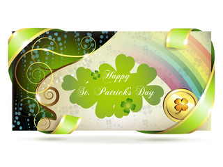 Banner for St. Patrick's Day