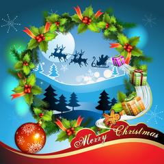 Christmas ball with gifts
