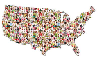 Portraits of a lot of people - United States of America