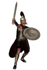 Roman legionnaire brandishing sword