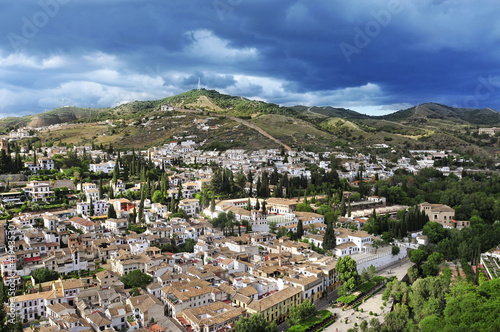 Albaicin and Sacromonte districts in Granada, Spain