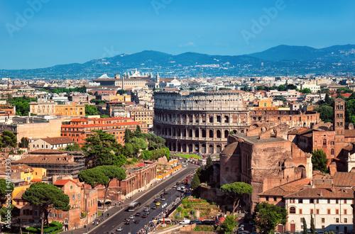 Leinwanddruck Bild The Colosseum in  Rome - Italy