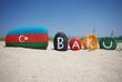 Baku, capital of Azerbaijan, souvenir on stones