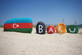 Baku, capital of Azerbaijan, souvenir on stones