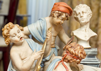 Ceramic statue, ceramics of Capodimonte