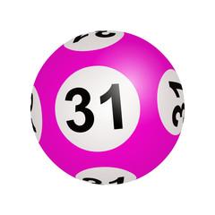 Tirage loto, boule numéro 31