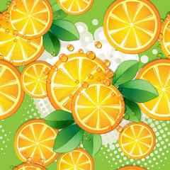 Pattern with slice orange