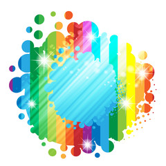 Colorful background with colored circles