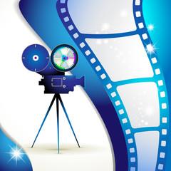Film frames with camera