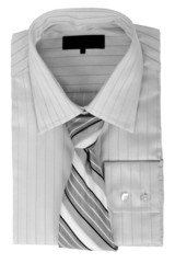 shirt with tie isolated on white