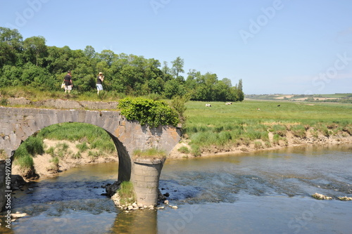 Foto op Canvas Pistache Sur le Pont de la Roque 2