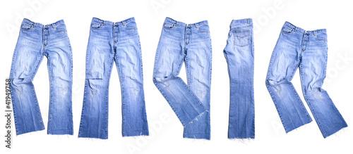 Mehrere Alte Jeans