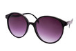 Purple sunglasses on white
