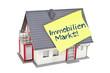 Haus mit Immobilien-Markt