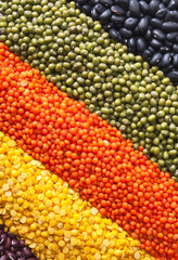 background with different legumes