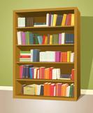 Fototapety Library Bookshelf