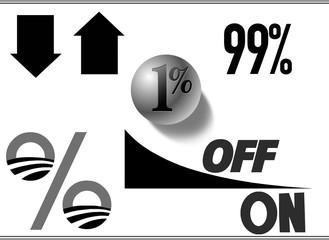 Percent discount shapes