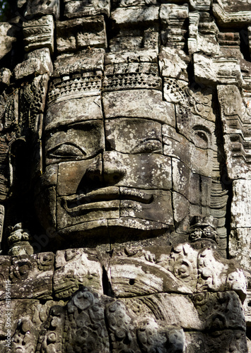 a face in the bayon temple, angkor wat, cambodia