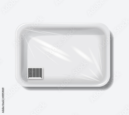 Empty plastic containers. eps10 vector background