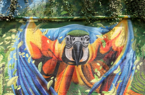 Fototapeten,macaw,tropisch,graffiti,graffiti