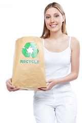Recycle Paper Bag Woman
