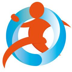 Mensch Wasser Bewegung Gesundheit Fitness mit QXP9 Datei