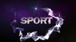 SPORT Text in Particle (Double Version) Blue - HD1080