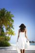Woman standing on the Beach (Maldives)
