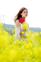 in the field