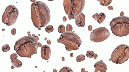Falling Coffee Beans (ends on green)