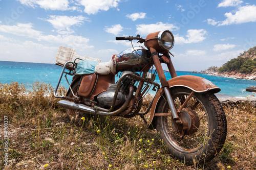 Motorrad am Strand