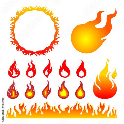 火 炎 イラスト