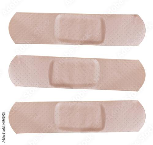 Adhesive bandages isolated on white Background