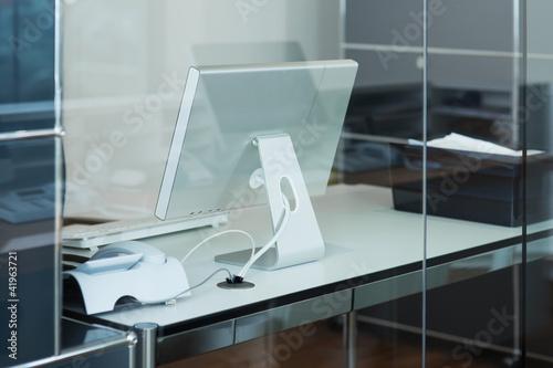 büro hinter glas