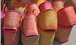Paniers colorés