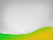 Light gray background Dizzy-HF, green-yellow wave