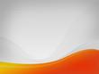 Light gray background Dizzy-HF, yellow-orange wave