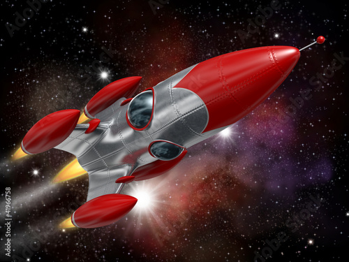 Poster Kosmos Space rocket