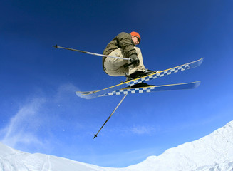 Skier in the sky