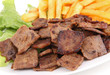 kebab meat and french fries