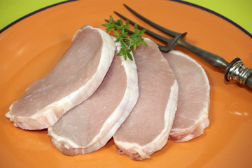 escalopes de porc