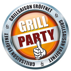 Grill-Party - Grillsaison eröffnet - Button