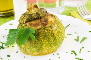 zucchine tonde- primo piano