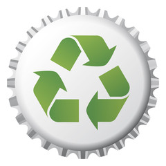 bottle cap with recycling icon 2