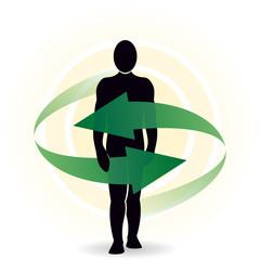 Medizin Rundum Hilfe Pfeile Mensch Schutz Logo m QXP9 Datei