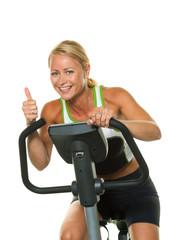 Frau beim Training für Ausdauer