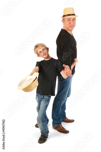 Sturdy father and son