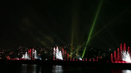 water, light and laser show